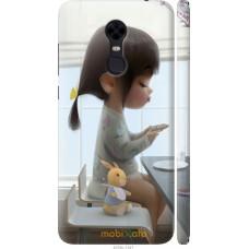 Чехол на Xiaomi Redmi 5 Plus Милая девочка с зайчиком