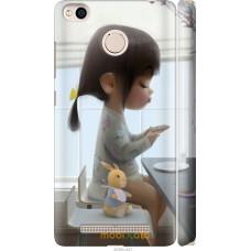Чехол на Xiaomi Redmi 3x Милая девочка с зайчиком