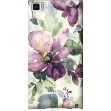 Чехол на Xiaomi Mi3 Акварель цветы