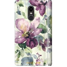 Чехол на Xiaomi Redmi Note 4X Акварель цветы