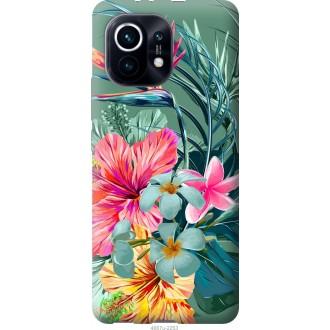 Чехол на Xiaomi Mi 11 Тропические цветы v1