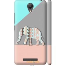 Чехол на Xiaomi Redmi Note 2 Узорчатый слон