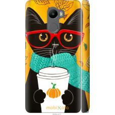 Чехол на Xiaomi Redmi 4 Осенний кот
