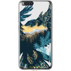 Чехол на Xiaomi Mi Note 3 Арт-орел на фоне природы
