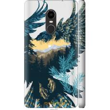 Чехол на Xiaomi Redmi Note 4X Арт-орел на фоне природы