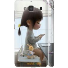 Чехол на Xiaomi Redmi 2 Милая девочка с зайчиком