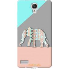 Чехол на Xiaomi Redmi Note Узорчатый слон