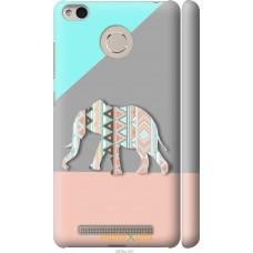 Чехол на Xiaomi Redmi 3s Узорчатый слон