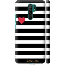 Чехол на Xiaomi Redmi 9 Черно-белые полосы