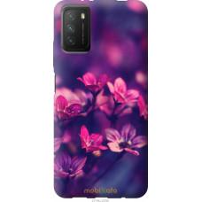 Чехол на Xiaomi Poco M3 Пурпурные цветы