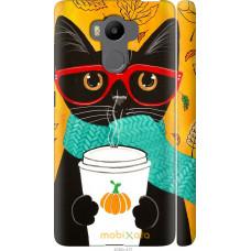 Чехол на Xiaomi Redmi 4 Prime Осенний кот