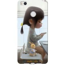 Чехол на Xiaomi Mi4s Милая девочка с зайчиком