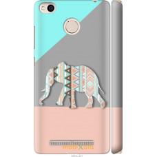 Чехол на Xiaomi Redmi 3x Узорчатый слон