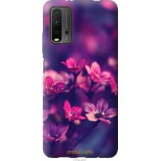Чехол на Xiaomi Redmi 9T Пурпурные цветы