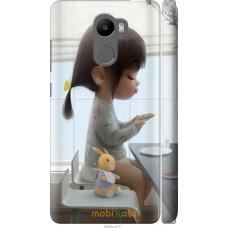 Чехол на Xiaomi Redmi 4 Милая девочка с зайчиком