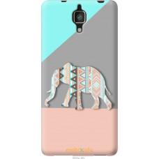Чехол на Xiaomi Mi4 Узорчатый слон