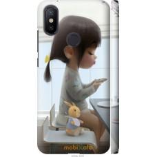 Чехол на Xiaomi Mi A2 Милая девочка с зайчиком