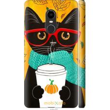 Чехол на Xiaomi Redmi Note 4X Осенний кот