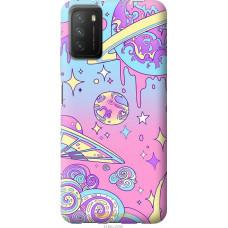 Чехол на Xiaomi Poco M3 Розовая галактика