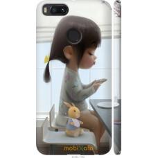 Чехол на Xiaomi Mi A1 Милая девочка с зайчиком