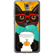 Чехол на ZTE A510 Осенний кот