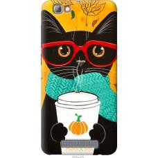 Чехол на ZTE A610 Осенний кот