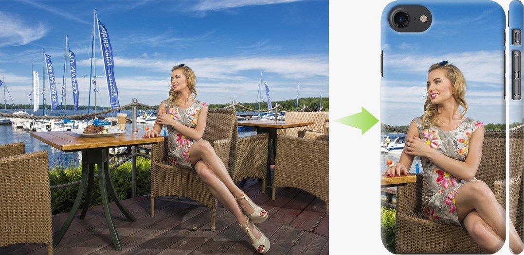 Чехол на айфон - свой дизайн девушка